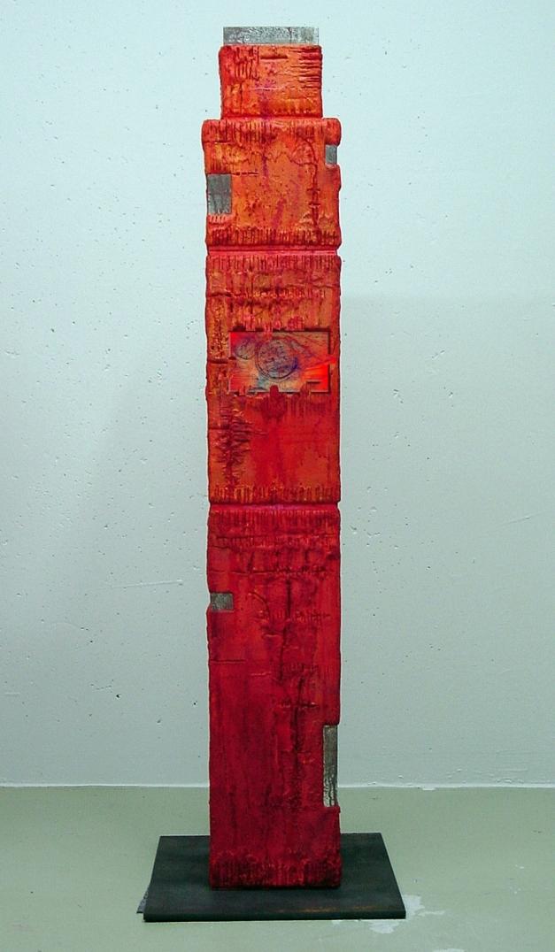 11-03 Skulptur Holz 21 x 21 x 136 cm Rückseite